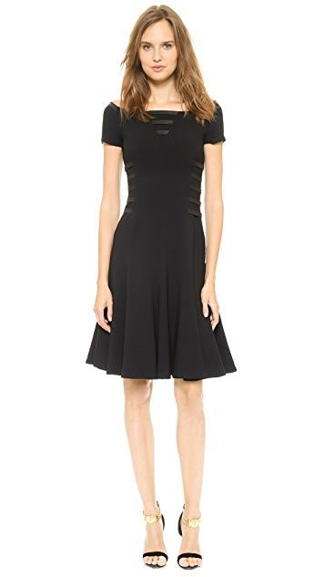 Versace Leather Strap Cocktail Dress