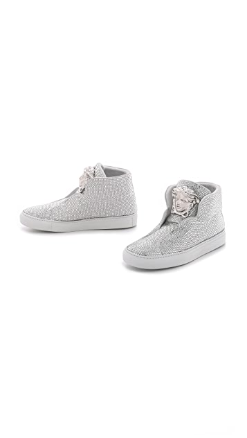 ac4e52d87de9 ... Versace Swarovski Crystal Sneakers