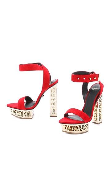 Versace Cutout Platform Sandals