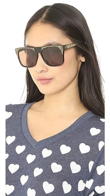 Vintage Frames Company Rude Snakeskin Sunglasses