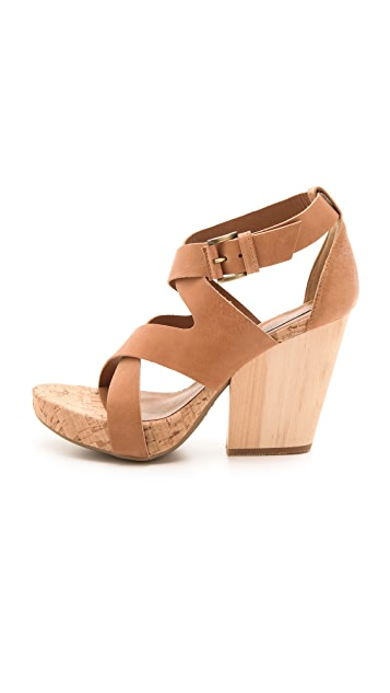 Vic Italy Cork Heel Sandals