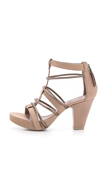 Vic Italy T-Strap Mid Heel Sandals