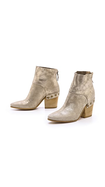 Vic Italy Metallic Booties
