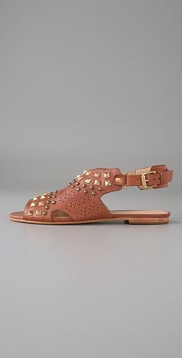 Pour La Victoire Glory Studded Flat Sandals