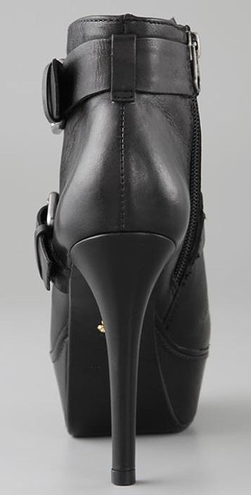 Pour La Victoire Angelique Platform Booties with Two Straps