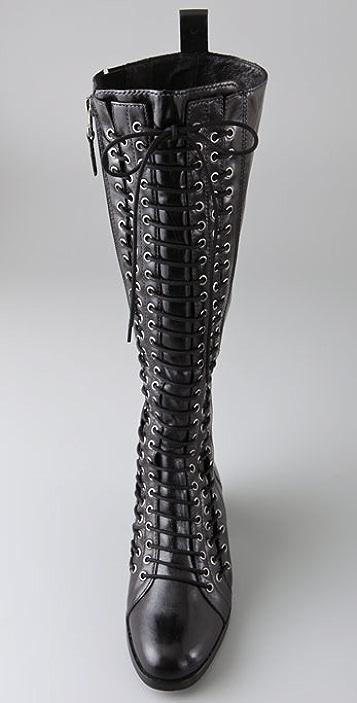 Pour La Victoire Kerry Lace Up Flat Boots