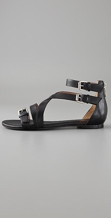 Pour La Victoire Bryn Buckle Flat Sandals