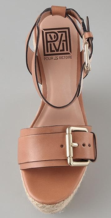 Pour La Victoire Jaclyn Espadrille Wedge Sandals