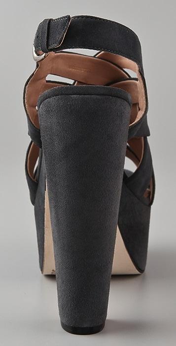 Pour La Victoire Glenna Suede Woven Sandals