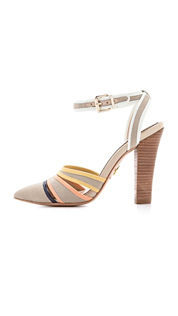 Pour La Victoire Kiran Canvas Pumps with Pointed Toe