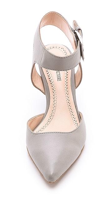 Pour La Victoire Minot Ankle Strap Wedges