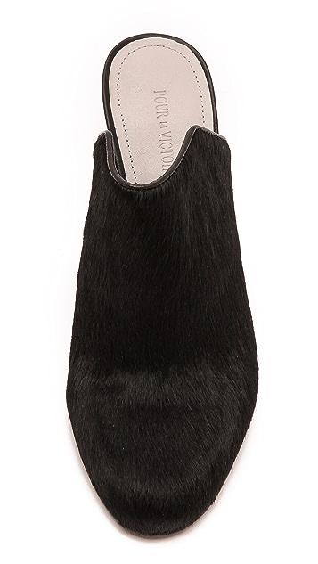 Pour La Victoire Verdi Haircalf Mules
