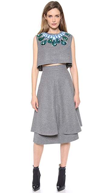 Vika Gazinskaya Cropped Necklace Top
