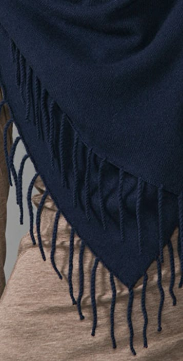 Vince Fringed Square Cashmere Scarf