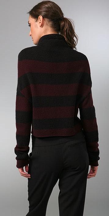 Vince Striped Turtleneck Sweater