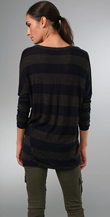 Vince Inside Out Striped Sweater