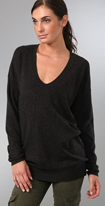 Vince Favorite V Neck Cashmere Sweater