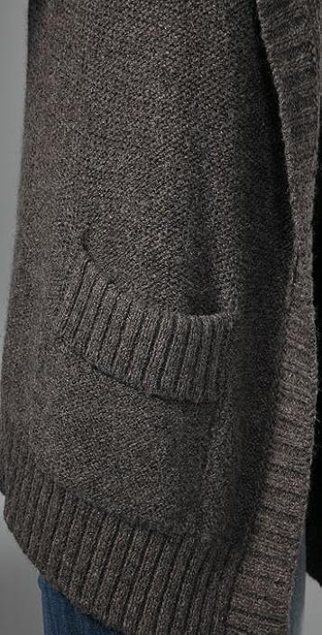 Vince Oversized Pocket Sweater Coat