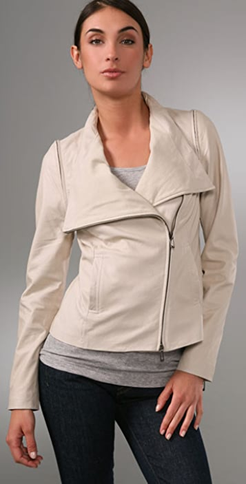 Vince Asymmetrical Leather Jacket
