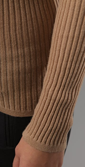 Vince Ribbed Cashmere Turtleneck Sweater