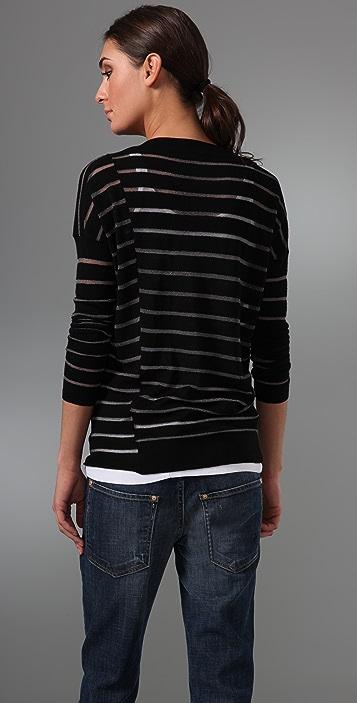 Vince Chalk Stripe Crew Sweater