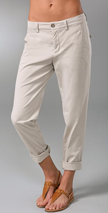 Vince Twill Boyfriend Pants