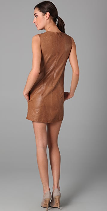 04b1bcc40e0 Vince Sleeveless Leather Dress; Vince Sleeveless Leather Dress ...