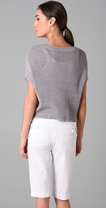 Vince Cropped Crew Sweater