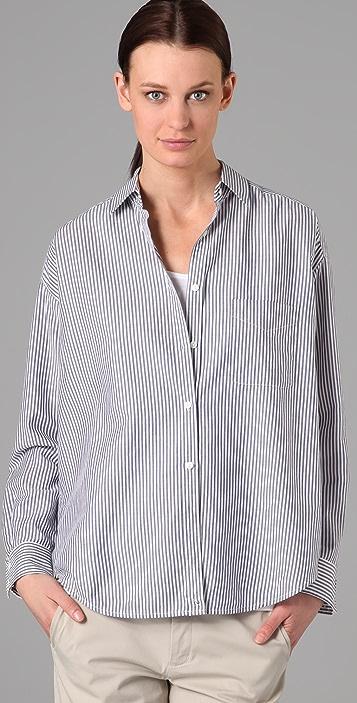 Vince Side Button Prep School Shirt