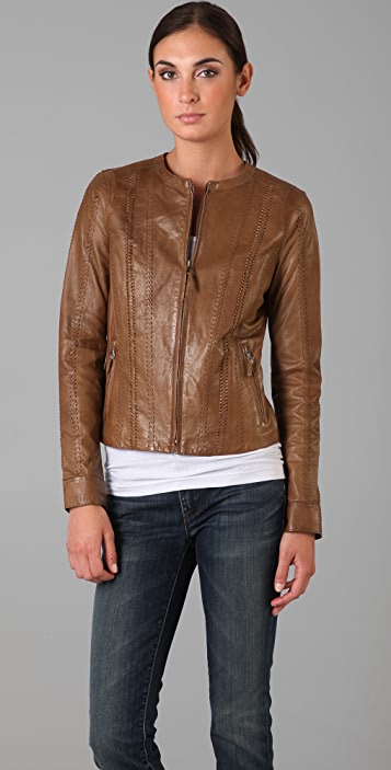 Vince Vintage Leather Jacket