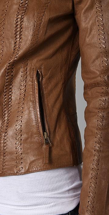Vince Vintage Leather Jacket