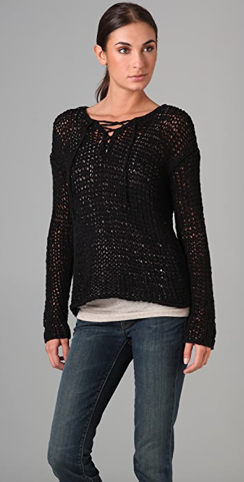 Vince Lace Up Sweater