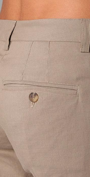 Vince Asymmetrical Linen Pants
