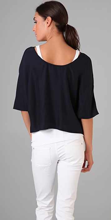 Vince Low Back Silk Tee