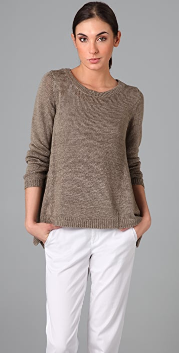 Vince Side Drape Sweater