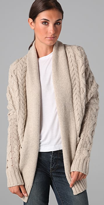 Vince Cocoon Cable Knit Sweater