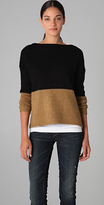 621b7d17c4 Vince Colorblock Boat Neck Sweater