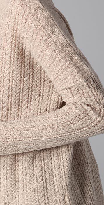 Vince Square Cable Knit Sweater