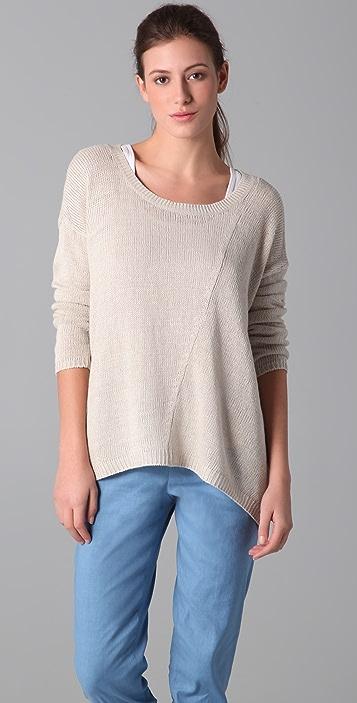 Vince Linen Ballet Neck Sweater Shopbop