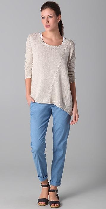 Vince Linen Ballet Neck Sweater