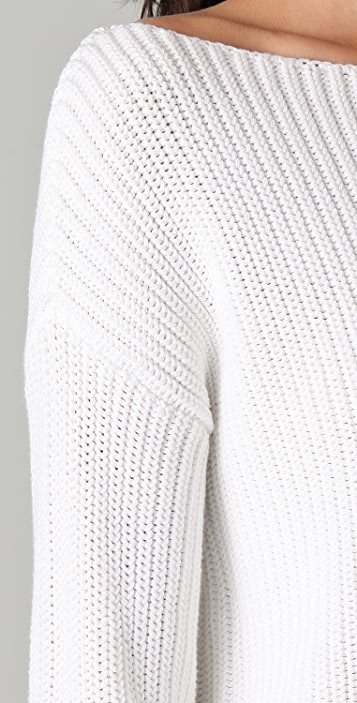 Vince Roll Sleeve Ribbed Sweater