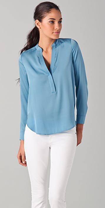 Vince 1/2 Placket Blouse