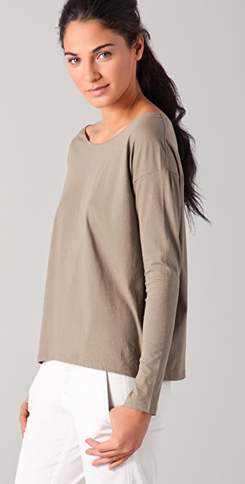 Vince Long Sleeve Cropped Tee