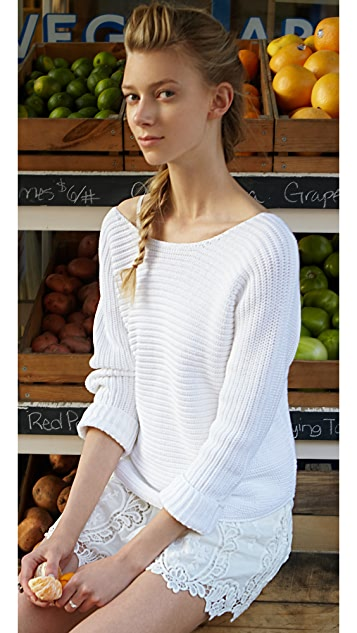Vince Ribbed V-Back Sweater