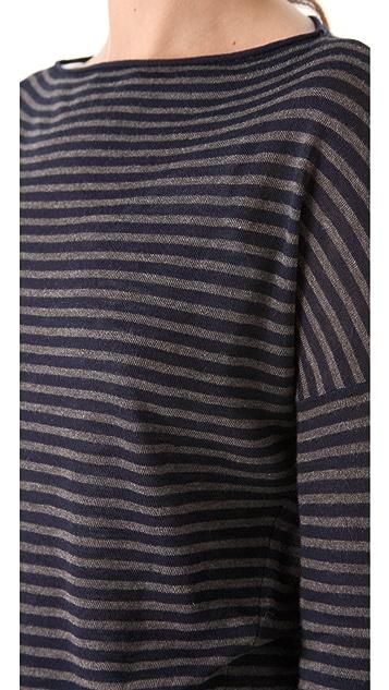 Vince Stripe Boat Neck Sweater