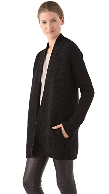 Vince Fur Trim Cardigan