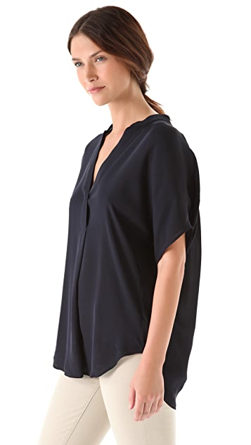 Vince Pleated Blouse