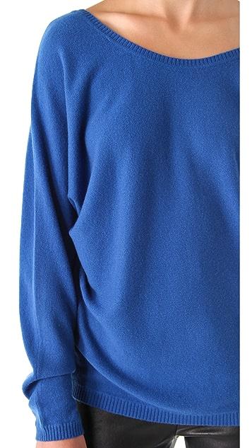 Vince V Back Cashmere Sweater