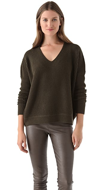 Vince Slouchy Double V Sweater