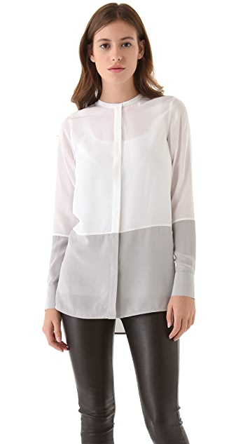 Vince Colorblock Silk Shirt
